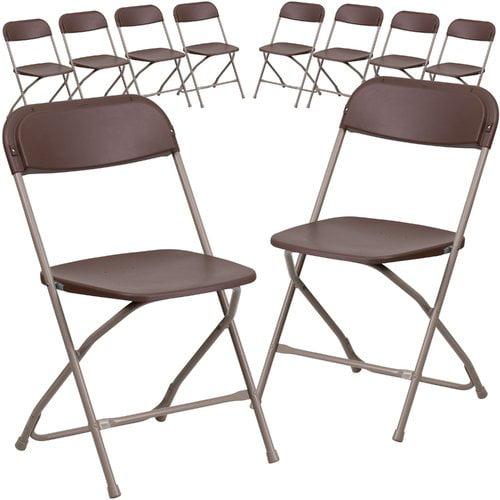 Flash Furniture (10-Pack) HERCULES Series 800 lb Capacity Premium Plastic Folding Chair, Multiple Colors