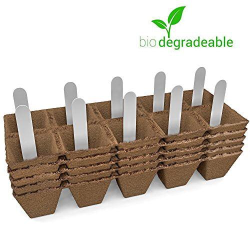 Jiffy Seed Starter Peat Pots Kit | Germination Seedling T...