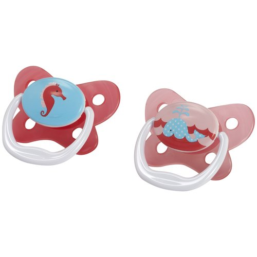 Dr. Brown's PreVent Orthodontic Butterfly Pacifier, 0-6 Months, 2 count, BPA-Free