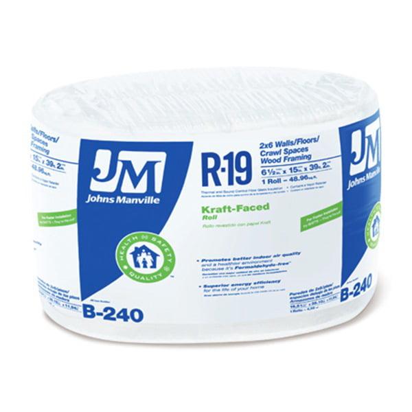 """Johns Manville R19 15""""X39'2 Kraft Roll"""