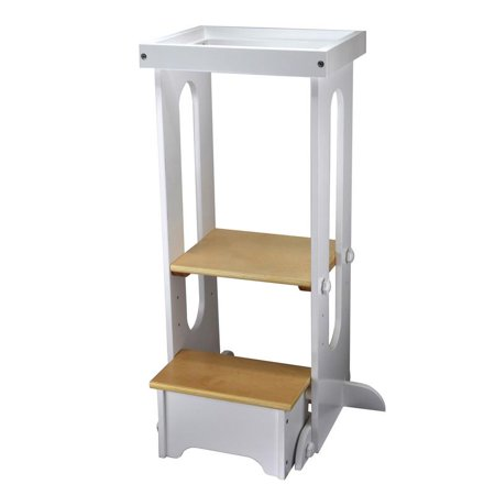 Explore N' Store Learning Tower, Soft White w/Natural -