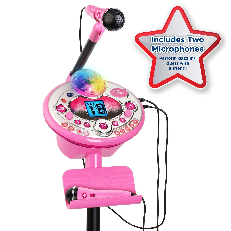 KIDdesigns VTech Kidi Star Karaoke System 2 Mics with Mic Stand & AC Adapter