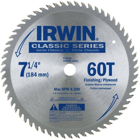 Irwin 15530ZR Finishing and Plywood Circular Saw Blade