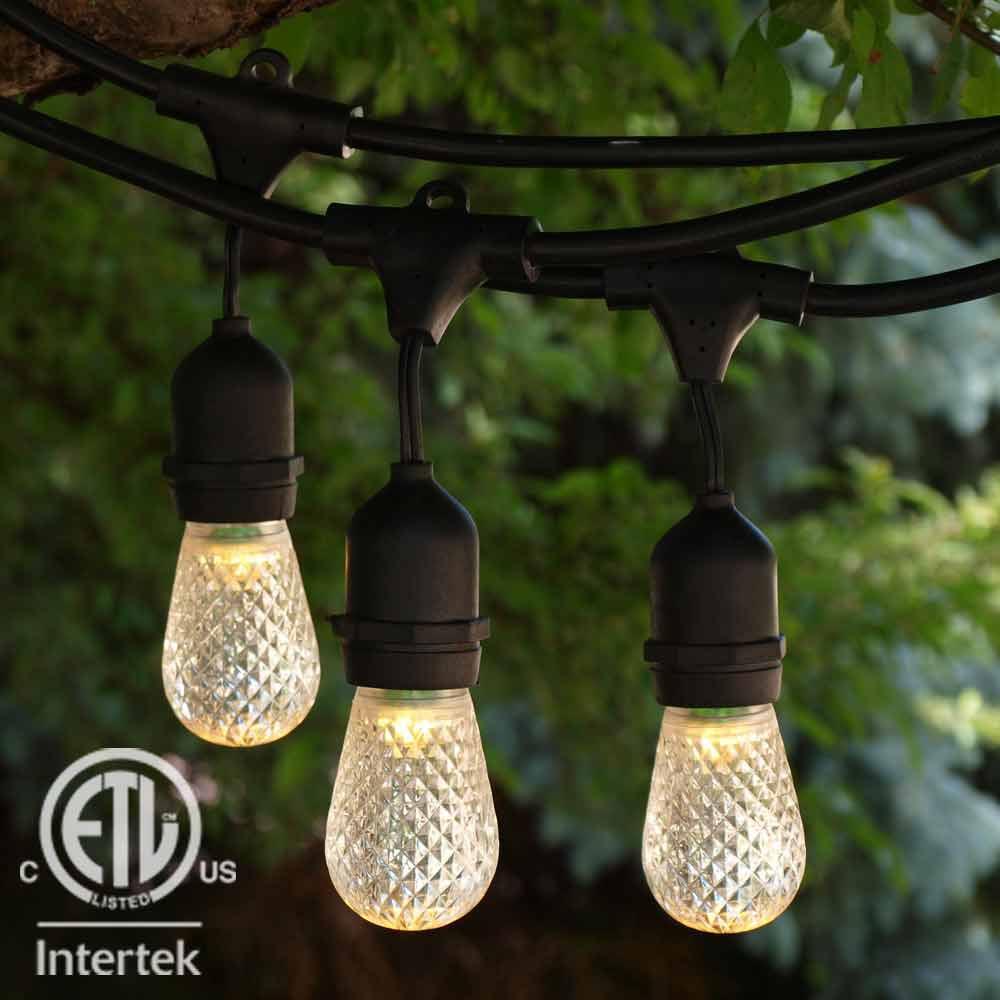 American Lighting LED String Lights - 48 ft Suspended ETL...