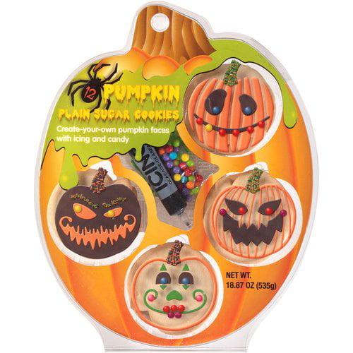 Create A Treat Pumpkin Plain Sugar Cookie Decorating Kit 18 87 Oz Walmart Com Walmart Com