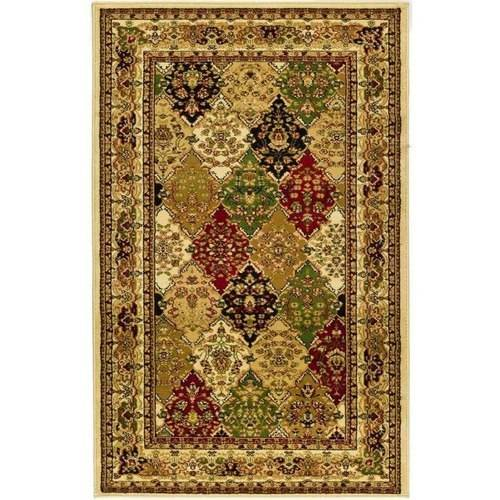 Safavieh LNH221A Lyndhurst Multi-Colored and Ivory Power Loomed Polypropylene Tr