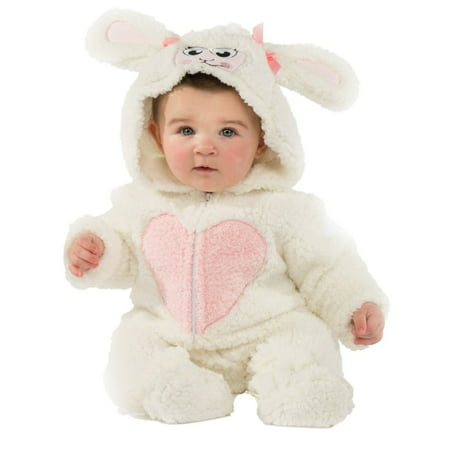 Infant Girls Plush White Little Lamb Costume Baby Sheep Halloween Jumpsuit