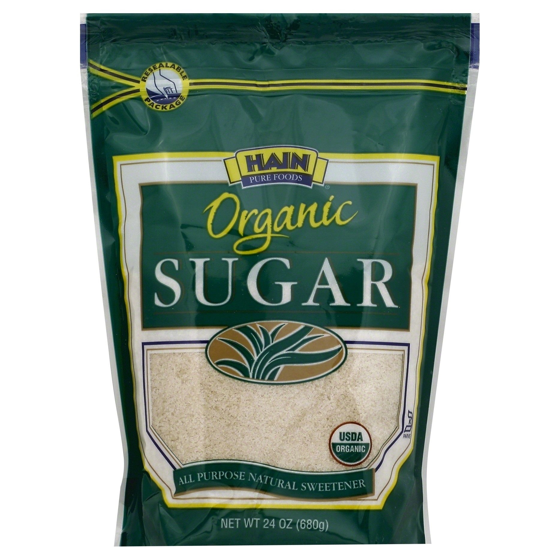 Hain Pure Foods Organic Sugar, 24 Oz