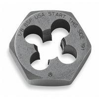 VERMONT AMERICAN 21244 Hexagon Die,Carbon Steel,RH,M11-1.50mm