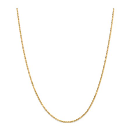 14k Yellow Gold 1.9mm Parisian Wheat Chain - image 5 of 5