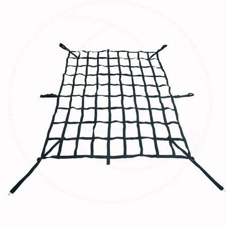 Fit Chevrolet Ram Cargo Net Rear Trunk Organizer Heavy Duty Luggage Holder Tail Gate Storage Carrier Trailer Web For 150