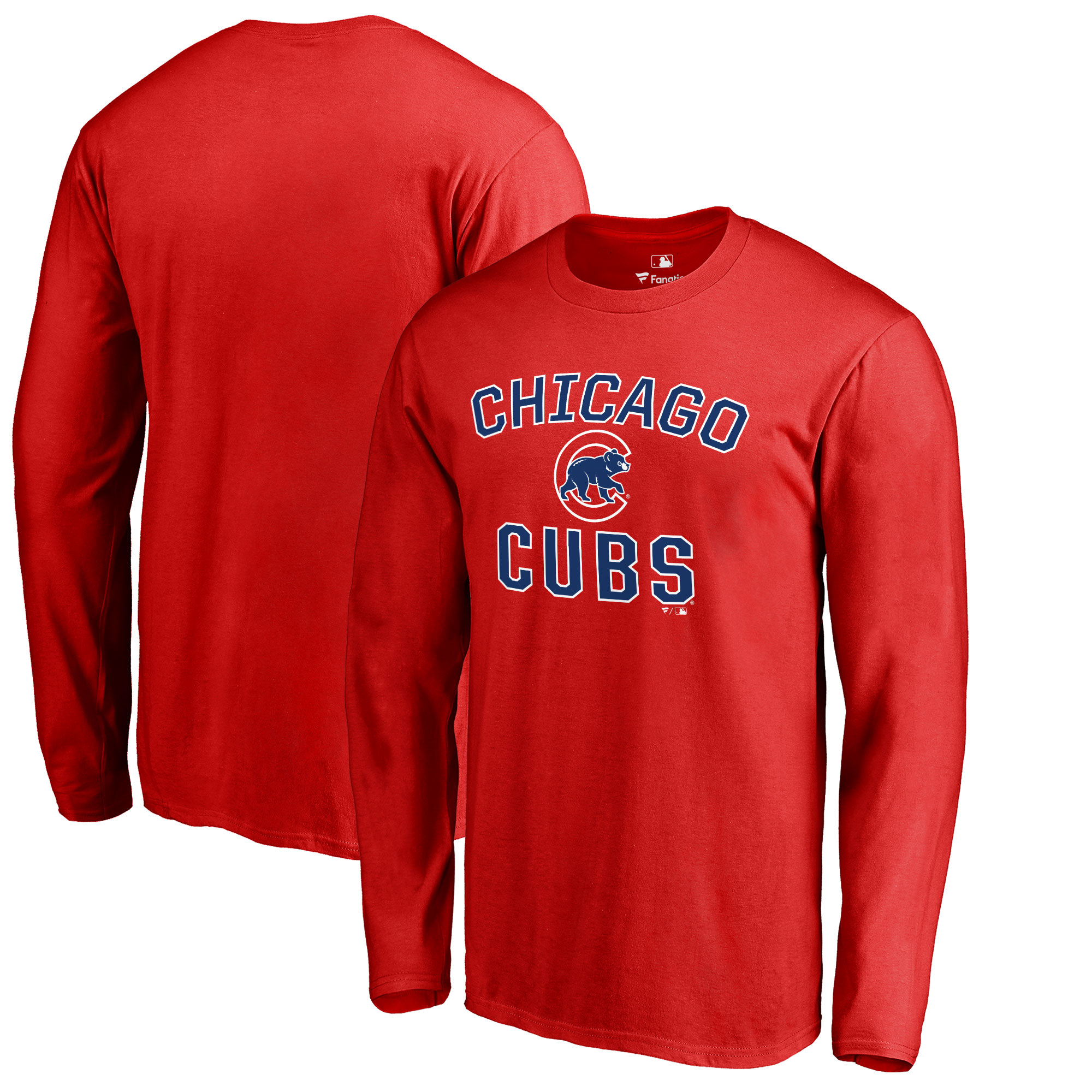 Chicago Cubs Victory Arch Long Sleeve T-Shirt - Red