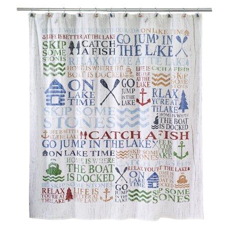 Avanti Lake Words Shower Curtain