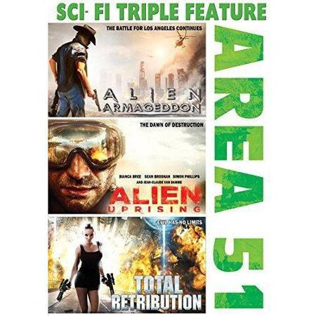 Sci Fi Triple Feature  Area 51   Alien Armageddon   Alien Uprising   Total Retribution