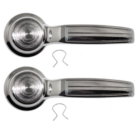 Pair Set Front Inside Inner Door Handles Replacement for GMC Chevrolet Van Nova Buick Skylark