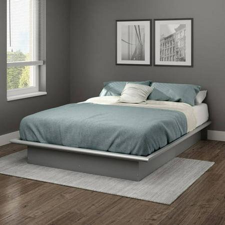 full size platform bed frame bedroom foundation furniture black white brown gray ebay. Black Bedroom Furniture Sets. Home Design Ideas
