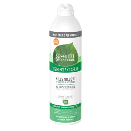 Seventh Generation Disinfectant Spray Eucalyptus, Spearment & Thyme 13.9 (Germicidal Surface Disinfectant)