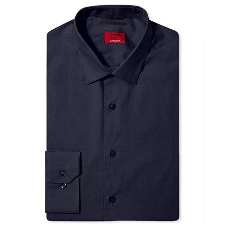 - Alfani Navy Mens Large Slim-Fit Button-Down Dress Shirt