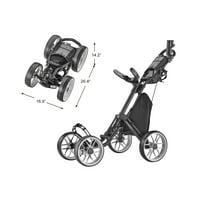 Caddytek CaddyCruiser ONE V8 Golf Push Cart, Dark Grey