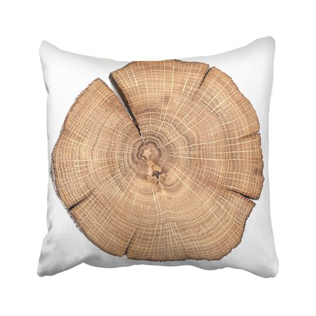 - BPBOP Brown Tree Oak Cracked Split With Growth Rings Cut Board Slice Wooden Log Top Stump Pillowcase Pillow Cushion Cover 16x16 inches