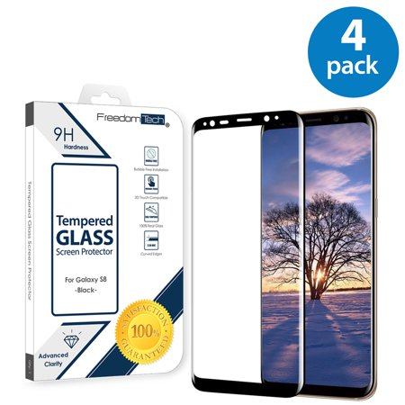 4x Samsung Galaxy S8 Screen Protector Glass Film Full Cover 3D Curved Case Friendly Screen Protector Tempered Glass for Samsung Galaxy S8