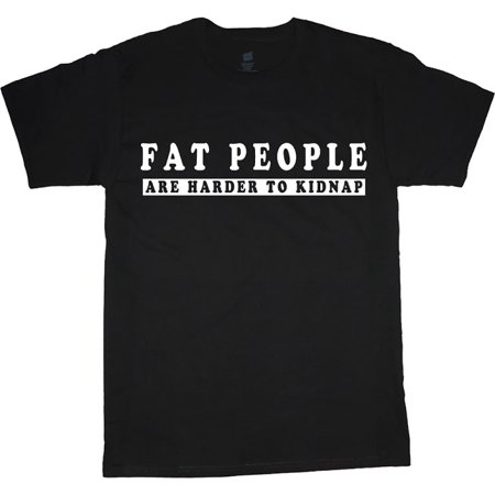 Fat People Funny T-shirt Men's Big and Tall Graphic Tee