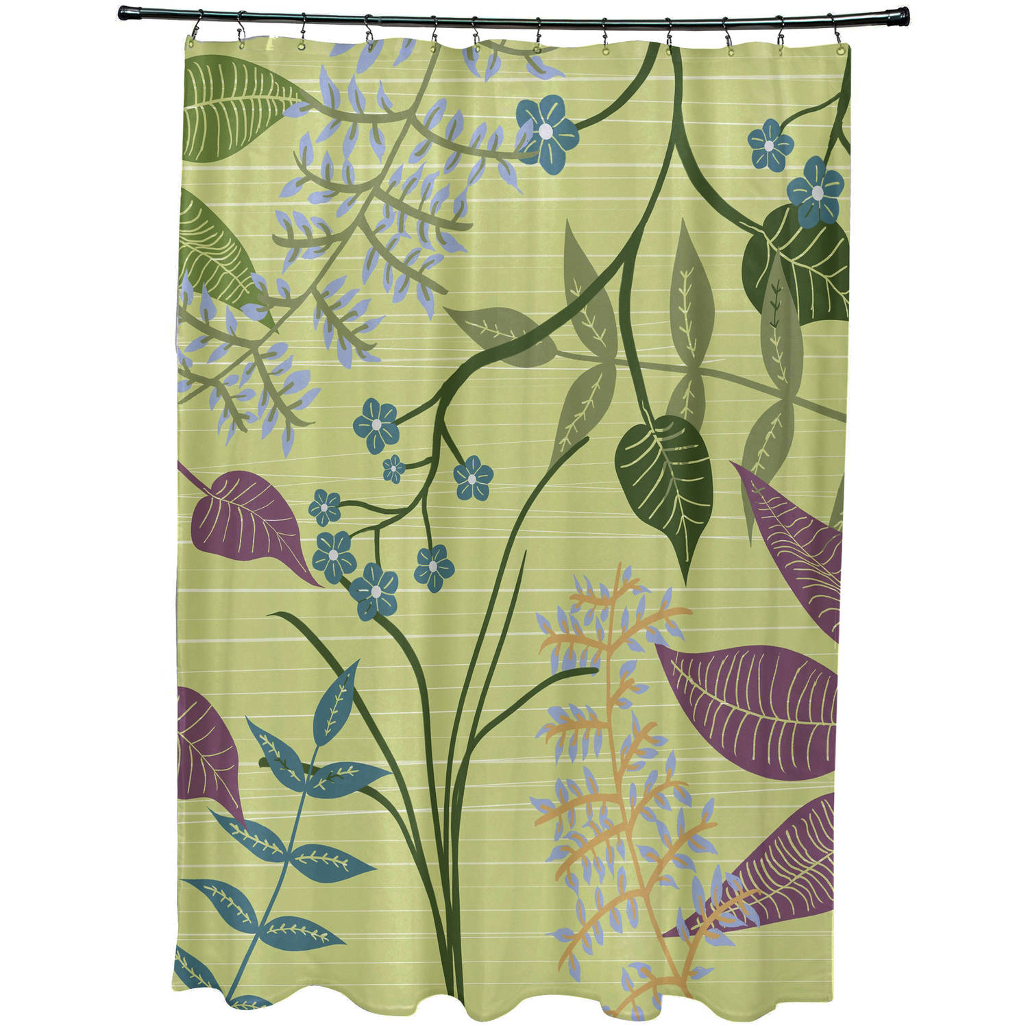 "Simply Daisy 71"" x 74"" Botanical Floral Print Shower Curtain"