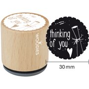 """Woodies Mounted Rubber Stamp 1.35""""-Thinking Of You"""