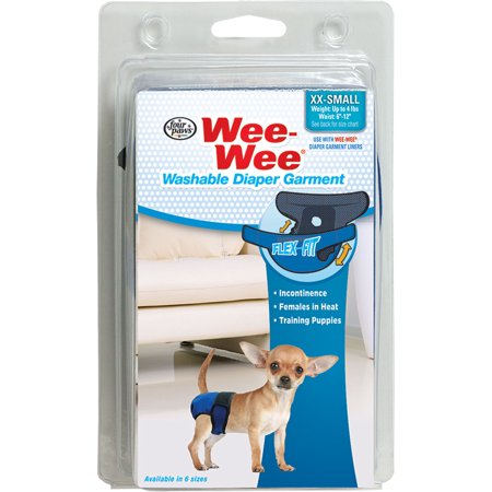 Four Paws Products Ltd-Wee Wee Washable Diaper Garment Xx-small