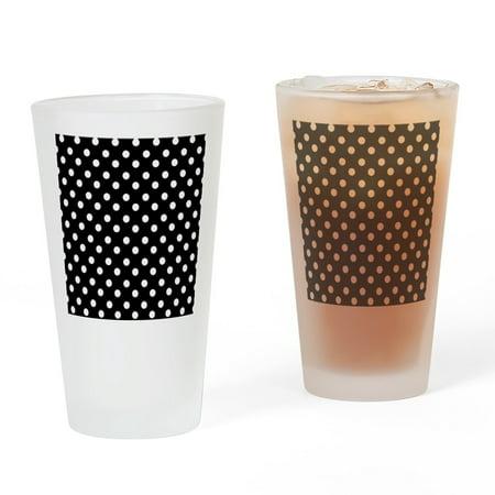 Polka Dot Drinking Glasses (CafePress - Black And White Polka Dots Pattern - Pint Glass, Drinking Glass, 16 oz.)