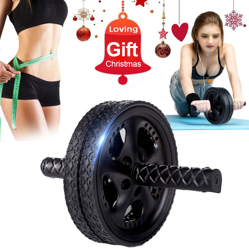Ab Workout Wheel Ab Roller Wheel AB Abdominal Wheel Roller Gym Strength Trainer Body Workout Exercise Equipment Christmas Gift