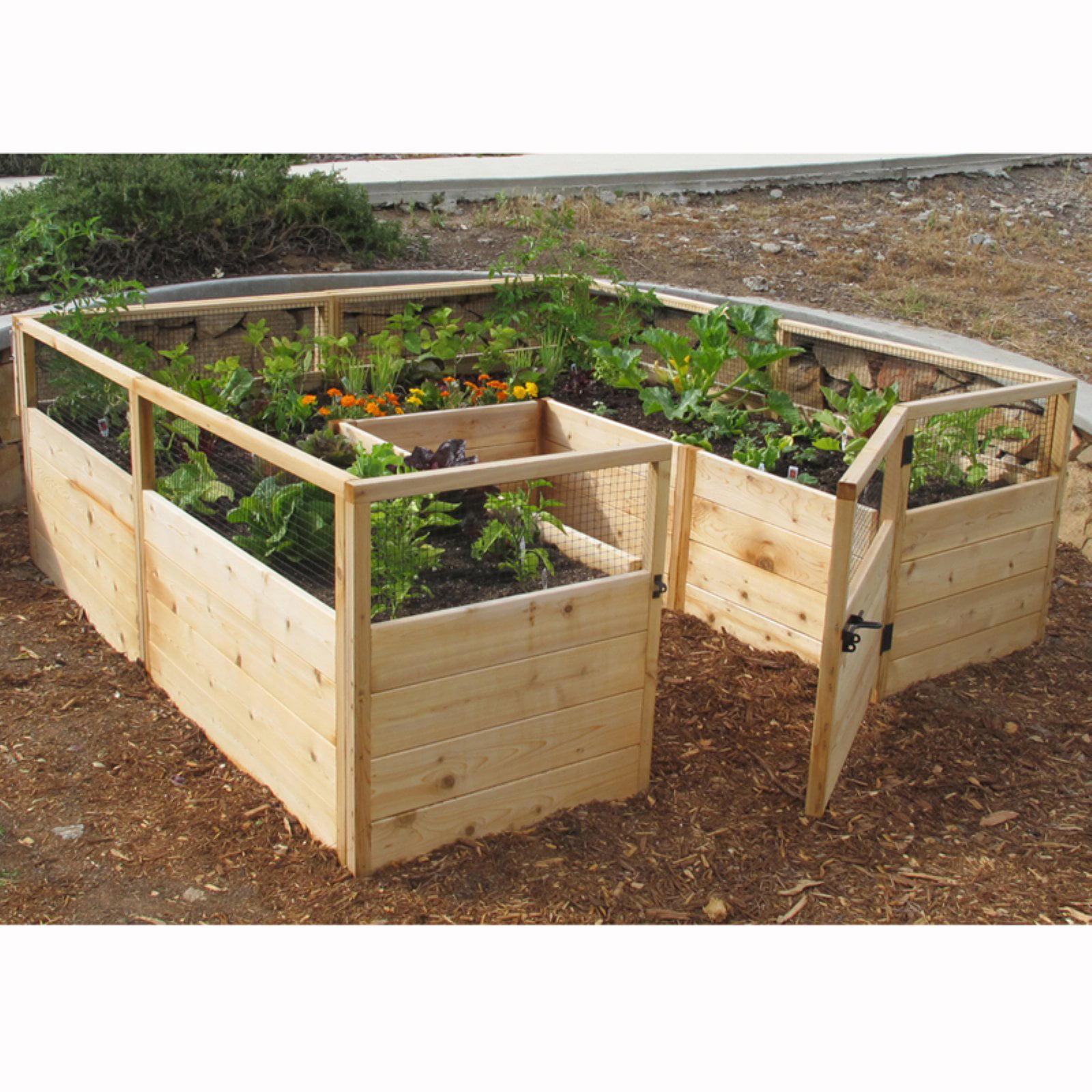 Outdoor Living Today Raised Cedar Garden Bed - 8 x 8 ft. - Walmart.com