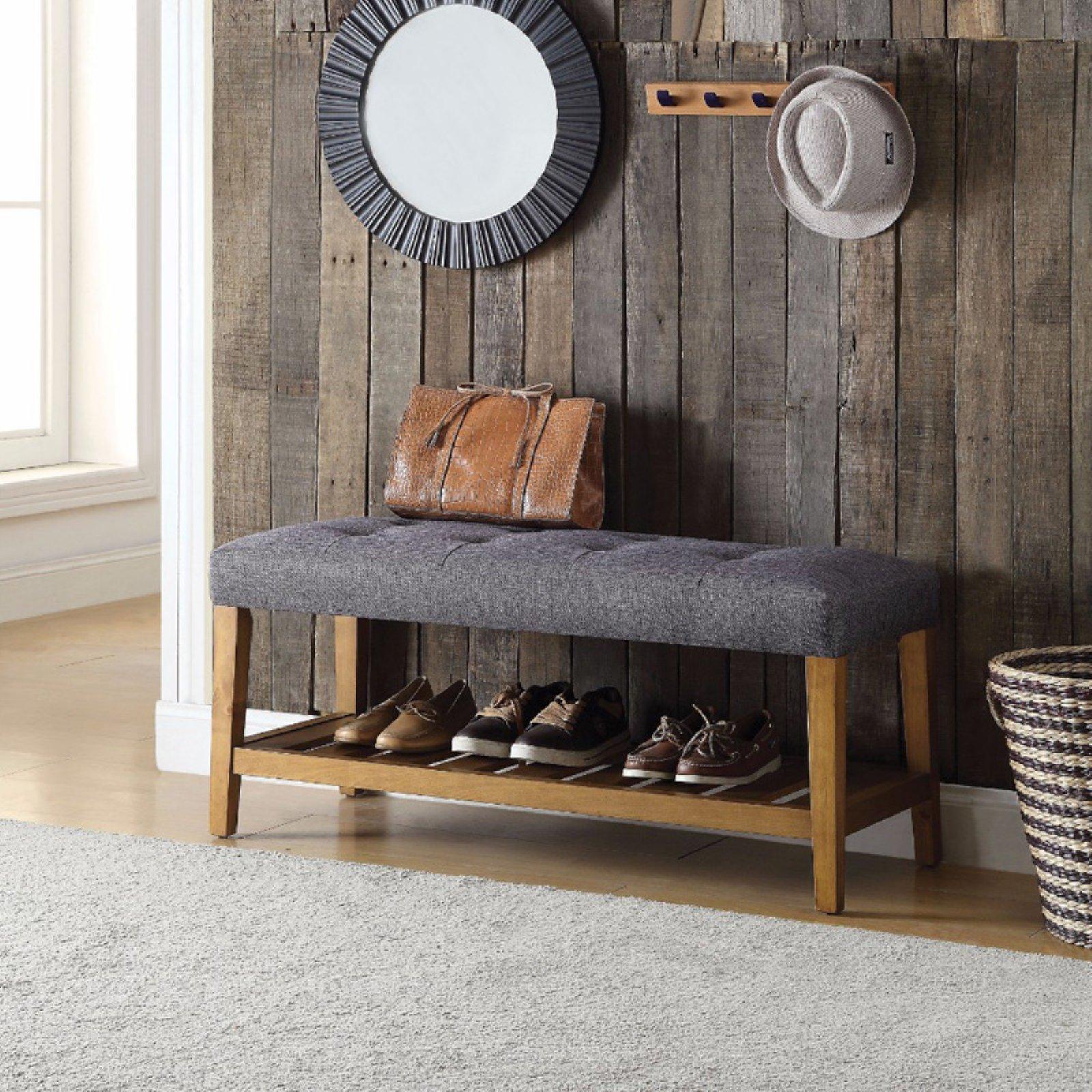 Wooden Bench, Gray & Oak
