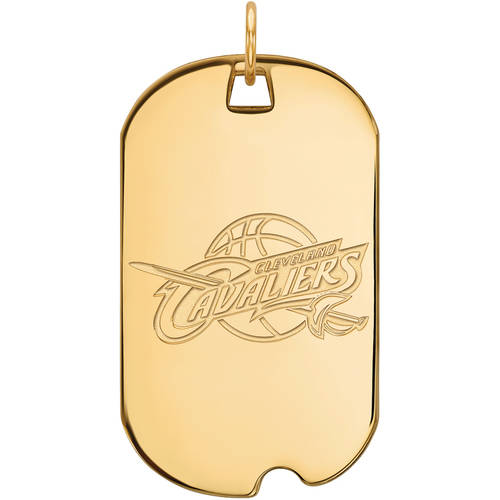 NBA Cleveland Cavaliers 10kt Yellow Gold Large Dog Tag