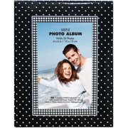 Brag Book With Frame 36 Pocket 4`X6`-Black With White Dots Multi-Colored