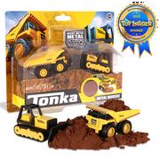 Tonka - Metal Movers Combo Pack - Mighty Dump Truck 1 and Bull Dozer