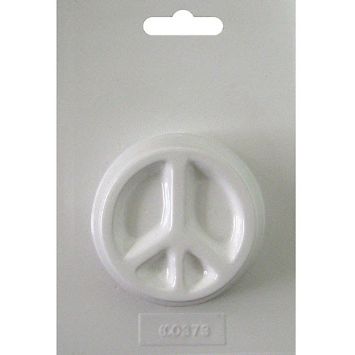 "Soapsations Soap Mold, Round Peace Sign, 2.5"" x 2.5"""