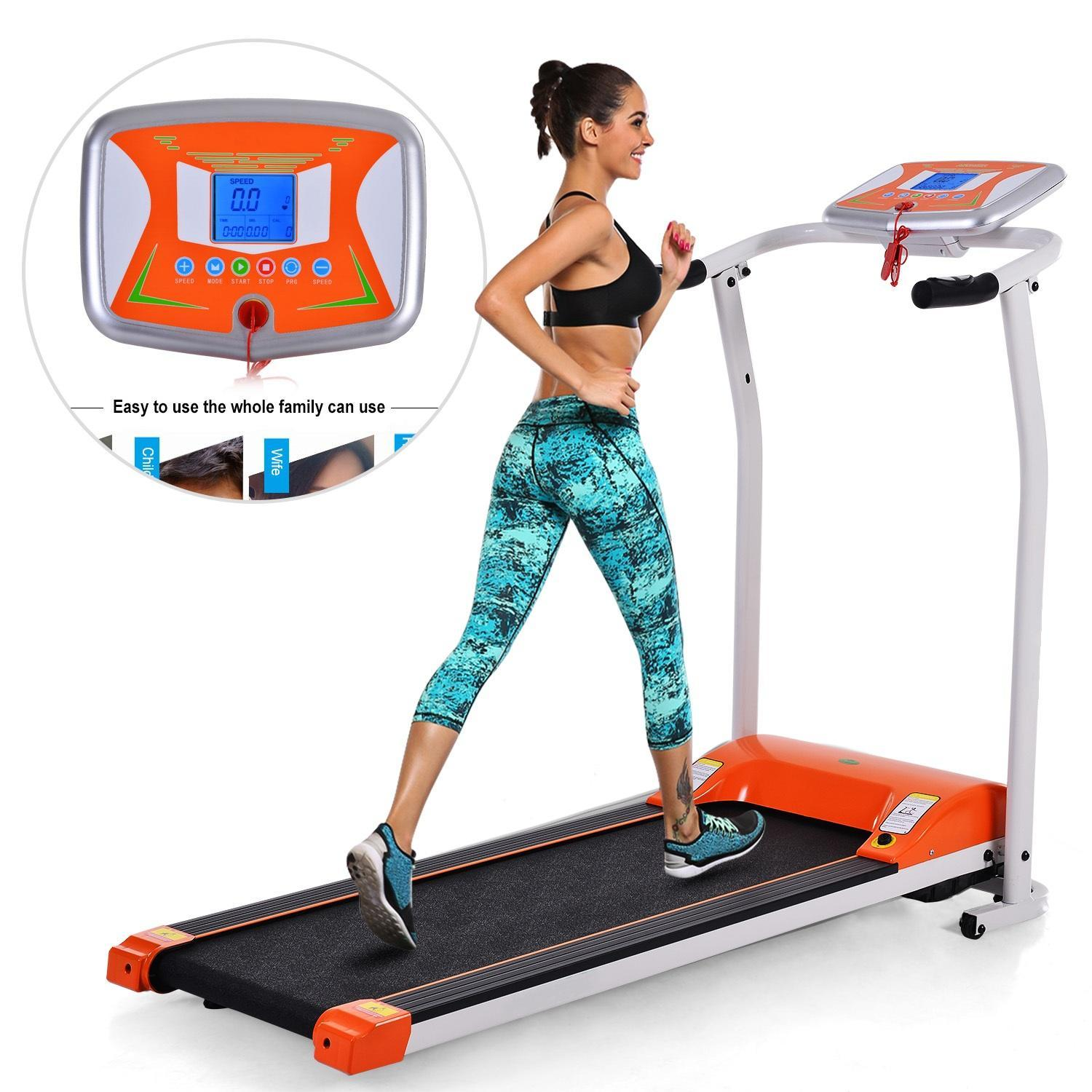"""Ancheer 3.0HP 7"""" WiFi Led Screen Folding Electric Motorized Treadmill Running Machine Training Fitness Equipments with Easy Assembly on Sale"""