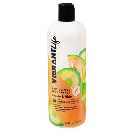 - Vibrant life extra moisturizing dog shampoo cucumber & melon, 24-oz bottle