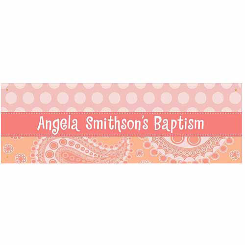 Personalized Paisley and Polka Dots Banner