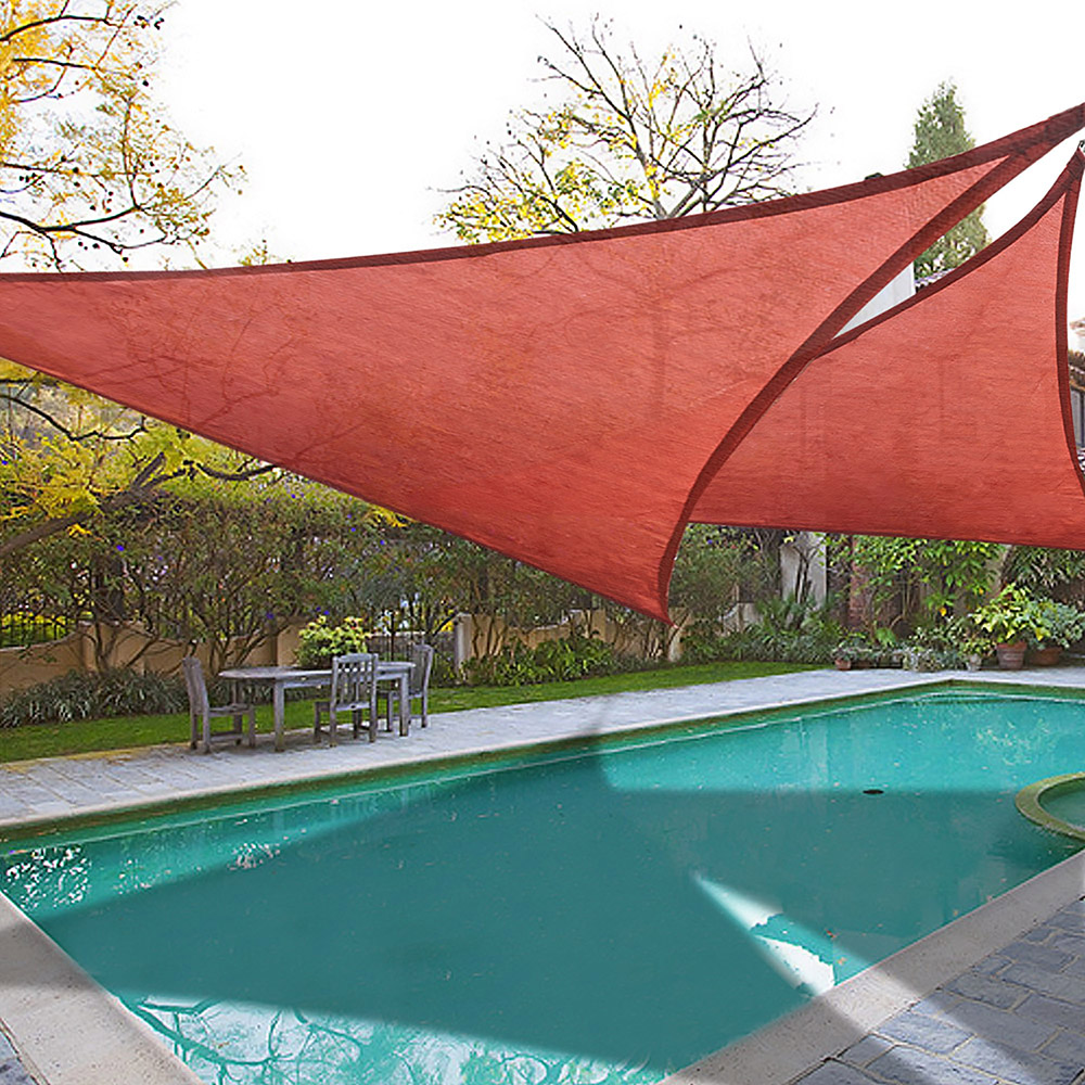 Yescom 2x 16.5' Triangle Sun Shade Sail Beach Canopy Cover UV Blocking