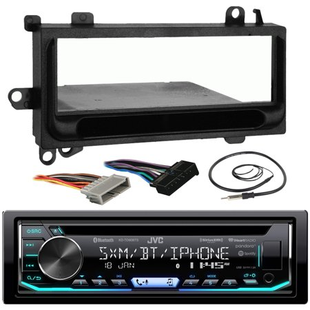 JVC KD-TD90BTS Car CD MP3 iPod Bluetooth Stereo Receiver Bundle Combo W/ Metra Installation Kit For 1974 and Up Chrysler/Dodge/Jeep Cars + Radio Wiring Harness + Enrock Antenna W/ Adapter