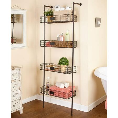 4-Tier Basket Wall Shelves -