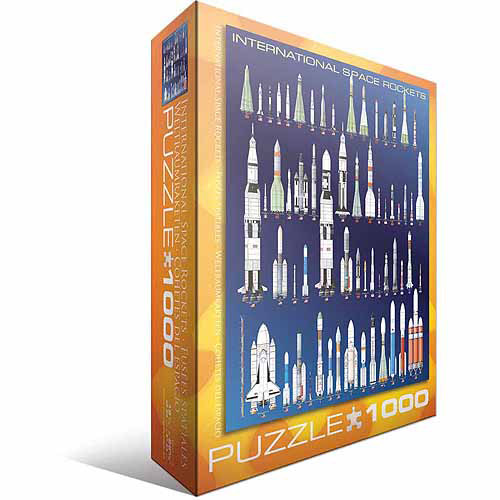 Euro Graphics 6000-1015 International Space Rockets 1000-Piece Puzzle