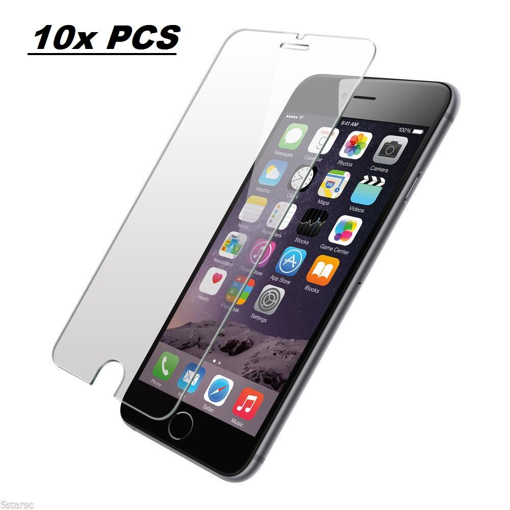 AmazingForLess 10X Premium Tempered Glass Screen Protectors Wholesale Lot - 10 PCS of Screen Protectors for iPhone 6/6S