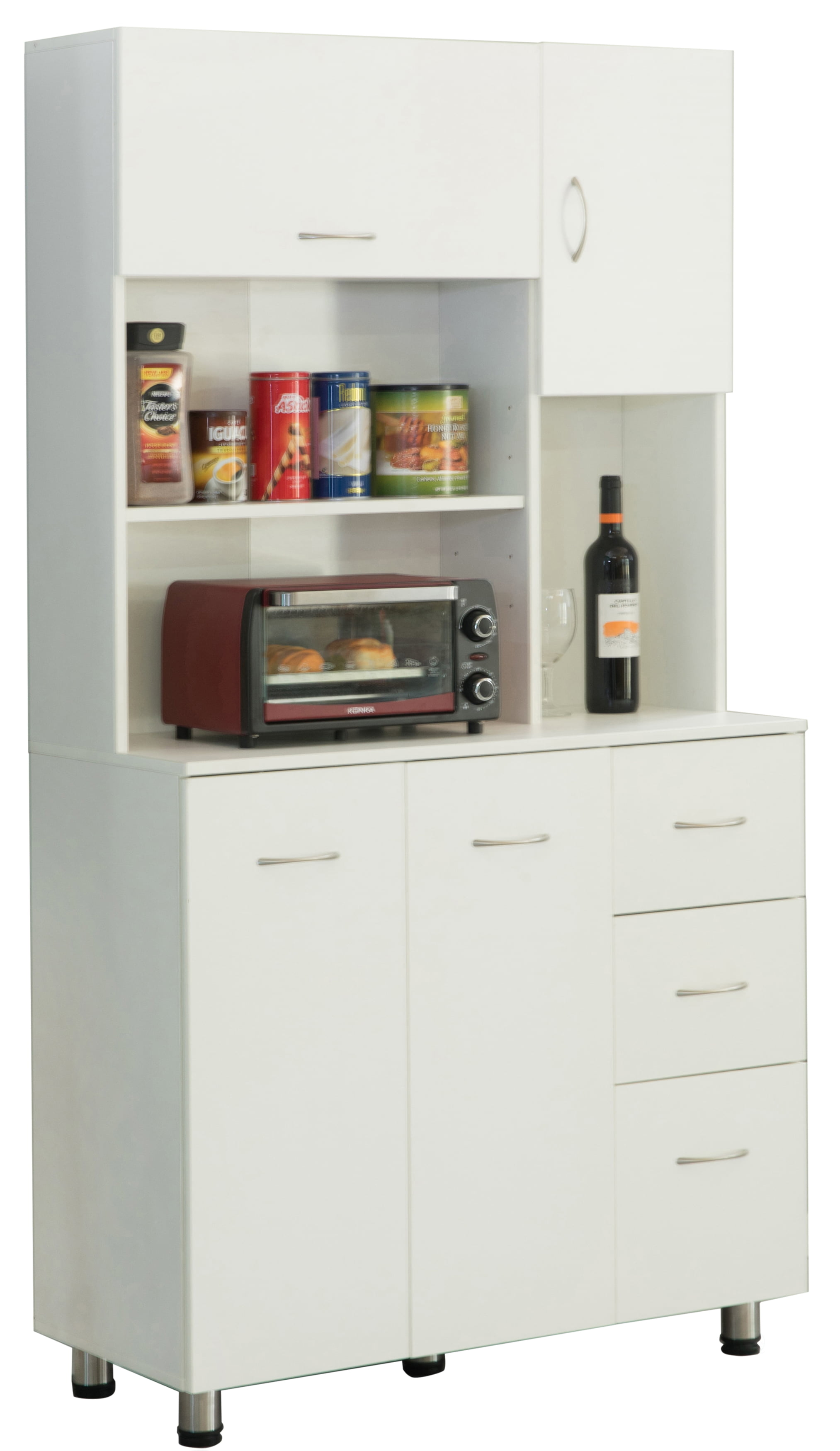 Kitchen Pantry Storage Cabinet with Doors and Shelves ...