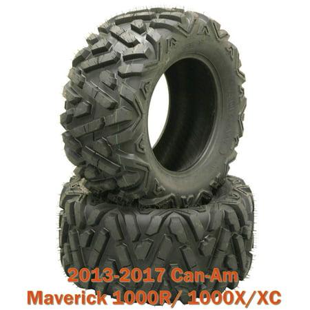 (2) 27x9-12 ATV Front Tire Set for 13-17 Can-Am Maverick 1000R/ 1000X/XC