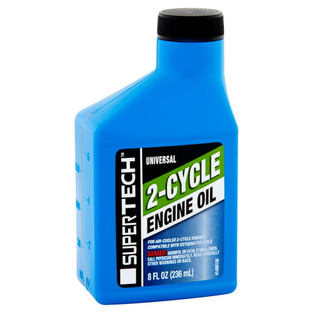 (2 Pack) Super Tech Universal 2-Cycle Engine Oil, 8 fl oz
