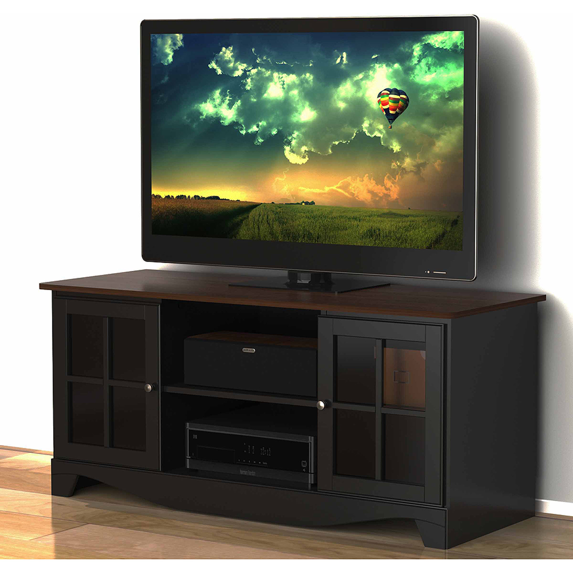 Nexera Pinnacle Cinnamon/Cherry HEC TV Stand for TVs up to 54""