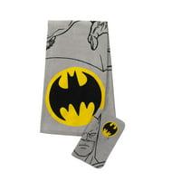 Batman Logo Kids 2Pc Bath Towel and Wash Cloth Set, 1 Set Each
